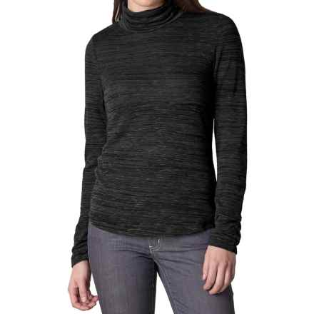 prAna Annina Turtleneck - Long Sleeve (For Women) in Coal - Closeouts