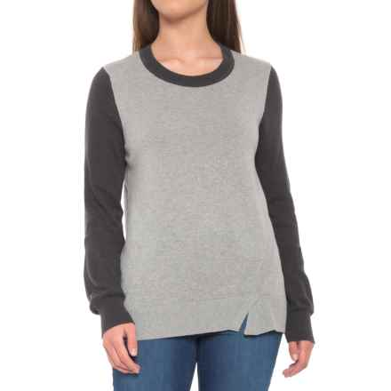 prAna Ansleigh Sweater - Organic Cotton (For Women) in Gravel Combo - Closeouts