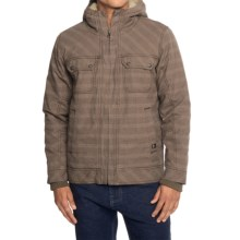 prAna Apperson Jacket - Organic Cotton (For Men) in Mud Plaid - Closeouts