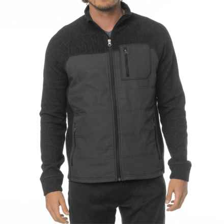prAna Appian Sweater - Zip Front, Wool Blend (For Men) in Charcoal - Closeouts