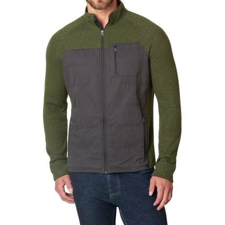 prAna Appian Sweater Zip Front, Wool Blend (For Men)