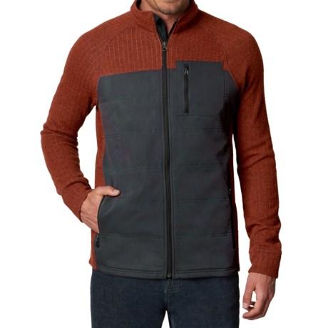 prAna Appian Sweater - Zip Front, Wool Blend (For Men) in Henna