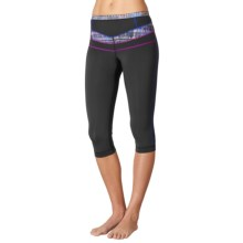 prAna Ara Swim Tights - UPF 50+ (For Women) in Black Driftwood - Closeouts