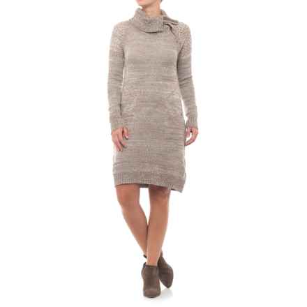 prAna Archer Dress - Long Sleeve (For Women) in Earth Grey - Closeouts