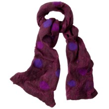 prAna Aria Scarf - Silk-Wool (For Women) in Port - Closeouts