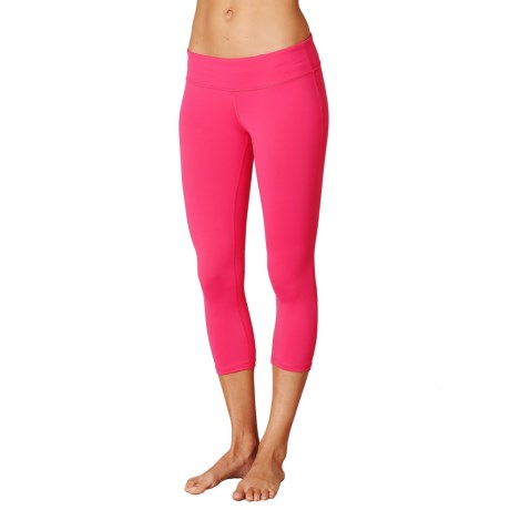 prAna Ashley Compression Capris - Low Rise (For Women) in Cosmo Pink