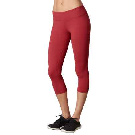 prAna Ashley Compression Capris - Low Rise (For Women) in Sunwashed Red - Closeouts