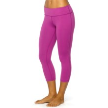 prAna Ashley Compression Capris - Low Rise (For Women) in Vivid Viola - Closeouts