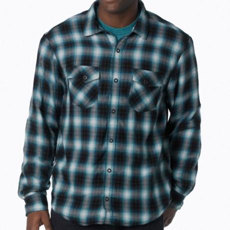 prAna Asylum Shirt - Organic Cotton, Thermal-Lined, Long Sleeve (For Men) in Blue Ash