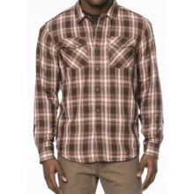 prAna Asylum Shirt - Organic Cotton, Thermal-Lined, Long Sleeve (For Men) in Brown - Closeouts