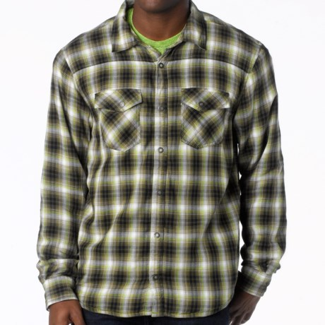prAna Asylum Shirt - Organic Cotton, Thermal-Lined, Long Sleeve (For Men) in Cargo Green