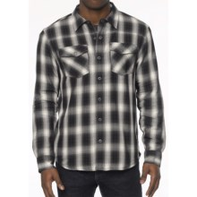 prAna Asylum Shirt - Organic Cotton, Thermal-Lined, Long Sleeve (For Men) in Coal - Closeouts
