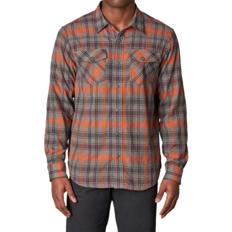prAna Asylum Shirt - Organic Cotton, Thermal-Lined, Long Sleeve (For Men) in Fireball