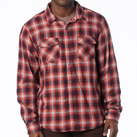 prAna Asylum Shirt - Organic Cotton, Thermal-Lined, Long Sleeve (For Men) in Mahogany
