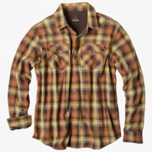 prAna Asylum Shirt - Organic Cotton, Thermal-Lined, Long Sleeve (For Men) in Rust - Closeouts