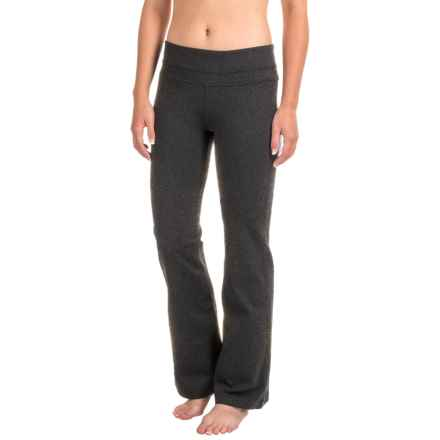 prAna Audrey Pants - Mid Rise, Bootcut (For Women) in Charcoal Heather - Closeouts
