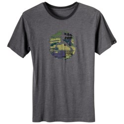 prAna Aura T-Shirt - Short Sleeve (For Men) in Curry