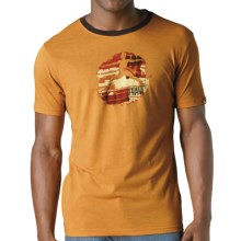 prAna Aura T-Shirt - Short Sleeve (For Men) in Curry - Closeouts