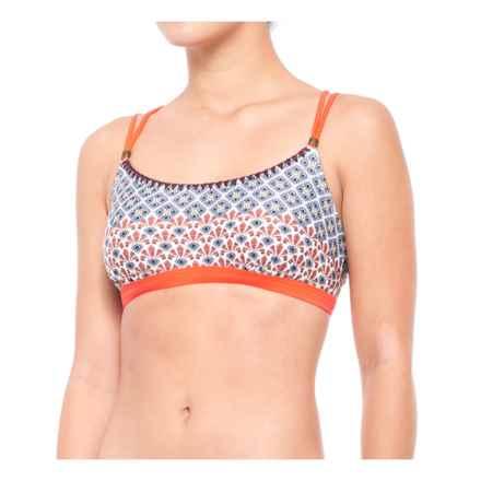 prAna Azora Bikini Top - UPF 50+, Removable Cups (For Women) in Electric Orange Sevilla - Closeouts