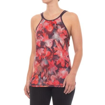 89072018b6a prAna Balletic Tank Top (For Women) in Dark Plum Digi Flower - Closeouts