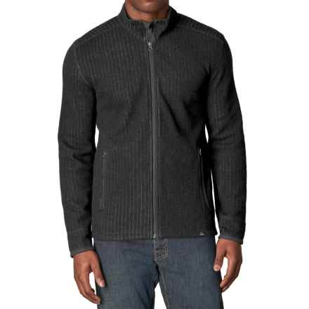 prAna Barclay Sweater - Full Zip (For Men) in Charcoal - Closeouts