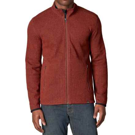 prAna Barclay Sweater - Full Zip (For Men) in Henna - Closeouts