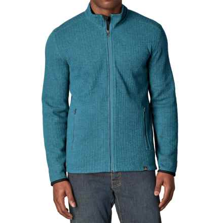 prAna Barclay Sweater - Full Zip (For Men) in Mosaic Blue - Closeouts