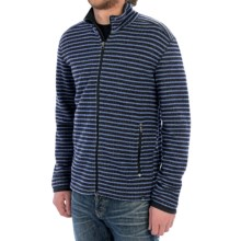 prAna Barclay Sweater - Full Zip (For Men) in Pure Blue Stripe - Closeouts