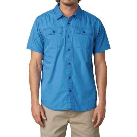 prAna Barekur Shirt - Organic Cotton, Short Sleeve (For Men) in Stream - Closeouts