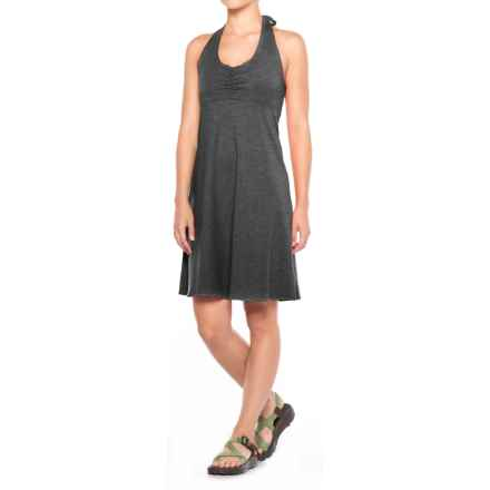 prAna Beachside Halter Top Dress (For Women) in Black - Closeouts