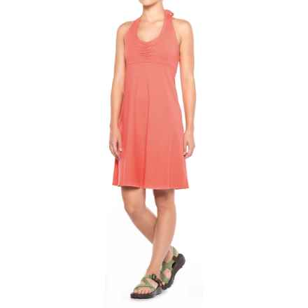 prAna Beachside Halter Top Dress (For Women) in Summer Peach - Closeouts