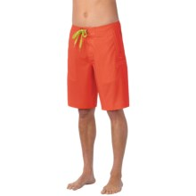 prAna Beacon Boardshorts - UPF 50+ (For Men) in Electric Orange - Closeouts