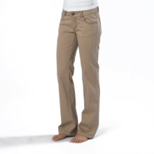 prAna Bedford Canyon Pants - Stretch Organic Cotton (For Women) in Dark Khaki - Closeouts