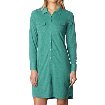 prAna Besha Shirt Dress - Long Sleeve (For Women) in Harbor Blue - Closeouts
