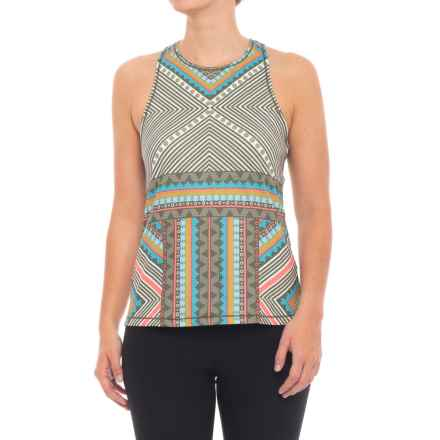 prAna Boost Printed Shirt - Sleeveless (For Women) in Green Taos - Closeouts