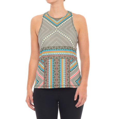 prAna Boost Printed Shirt - Sleeveless (For Women) in Green Taos