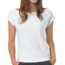 prAna Bree T-Shirt - Short Sleeve (For Women) in White - Closeouts