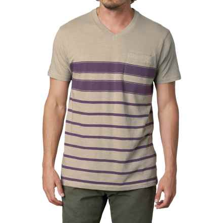 prAna Breyson Shirt - V-Neck, Short Sleeve (For Men) in Dark Eggplant - Closeouts