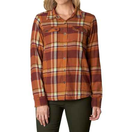 prAna Bridget Shirt - Long Sleeve (For Women) in Picante - Closeouts