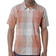 prAna Brighton Shirt - Organic Cotton, Short Sleeve (For Men) in Fog - Closeouts