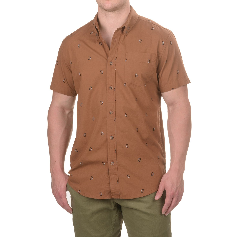 Prana broderick slim fit shirt for men save 53 for Slim fit cotton shirts