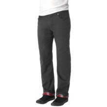 prAna Bronson Pants - Organic Cotton, Flannel Lined (For Men) in Charcoal - Closeouts