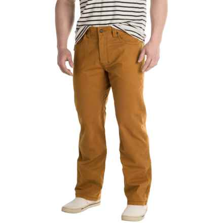prAna Bronson Pants - Stretch Cotton (For Men) in Cumin - Closeouts