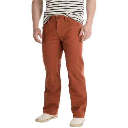 prAna Bronson Pants - Stretch Cotton (For Men) in Henna - Closeouts