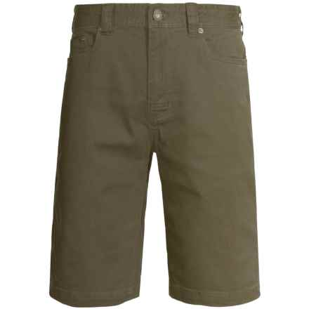prAna Bronson Shorts - Stretch Cotton (For Men) in Cargo Green - Closeouts