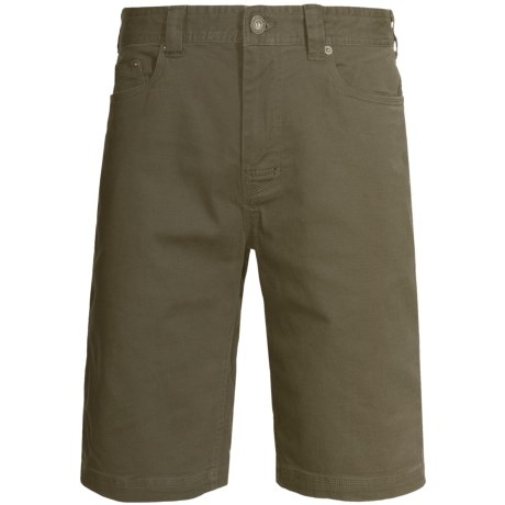 prAna Bronson Shorts - Stretch Cotton (For Men) in Cargo Green
