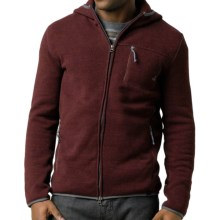 prAna Bryce Sweater - Fleece (For Men) in Eggplant - Closeouts