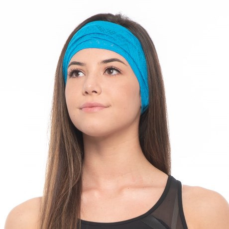prAna Burnout Headband - Recycled Polyester (For Women) in Electro Blue