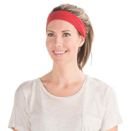PRANA BURNOUT HEADBAND - RECYCLED POLYESTER (For Women) in Sunwashed Red - Closeouts
