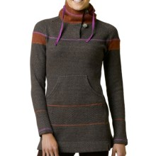 prAna Caitlyn Tunic Sweater - Hooded, Wool Blend (For Women) in Espresso - Closeouts